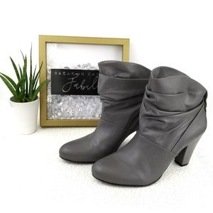 BCBG Generation gray ankle booties